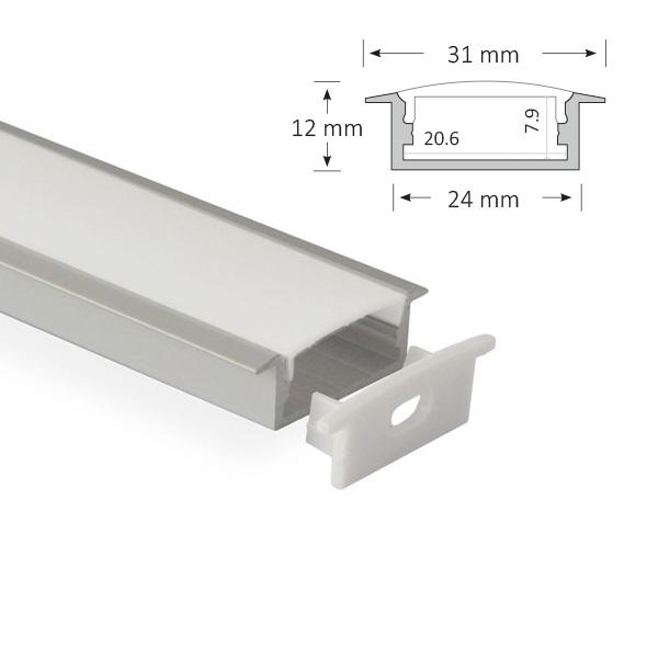 LED Low Profile Extrusion, 013-R