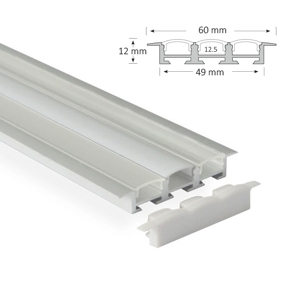 Triple-Channel Recessed Extrusion, 043-R