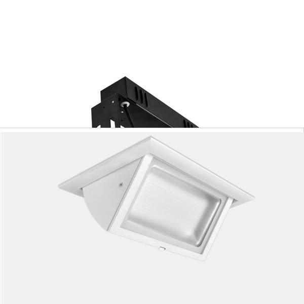 MILL Rectangular Downlight, 28W
