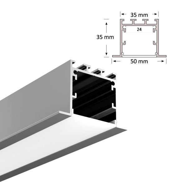 LED Recessed Extrusion, 071-R