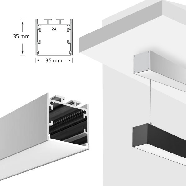 LED Square Extrusion, 072