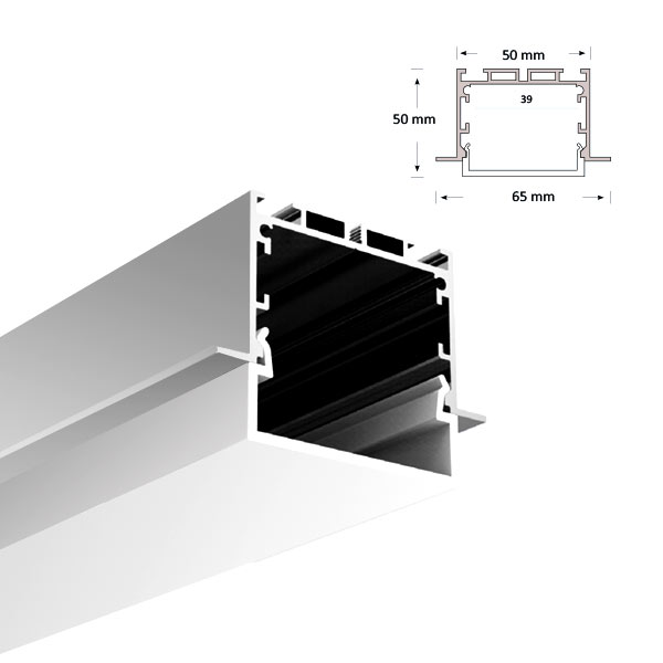 LED Extrusion with U-shaped Diffuser, 074-R