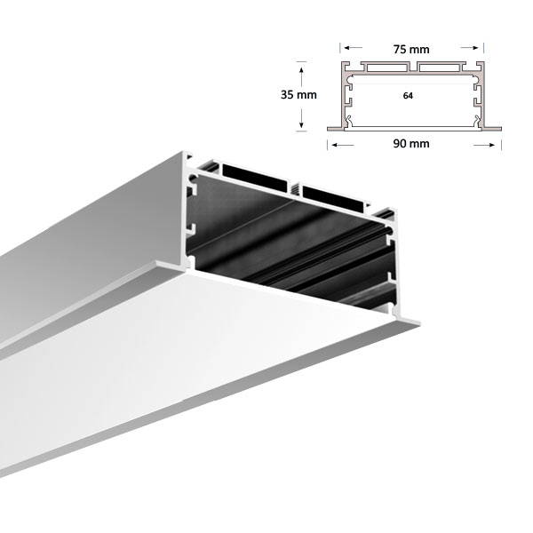 LED Recessed Extrusion, 077-R