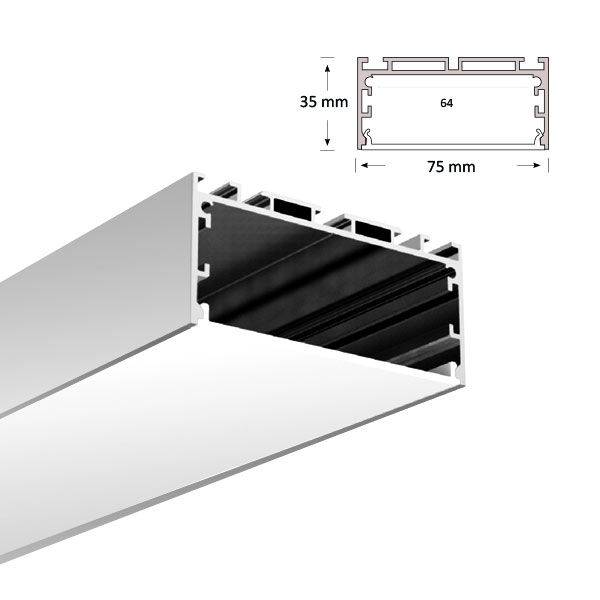 LED Rect Extrusion, 079