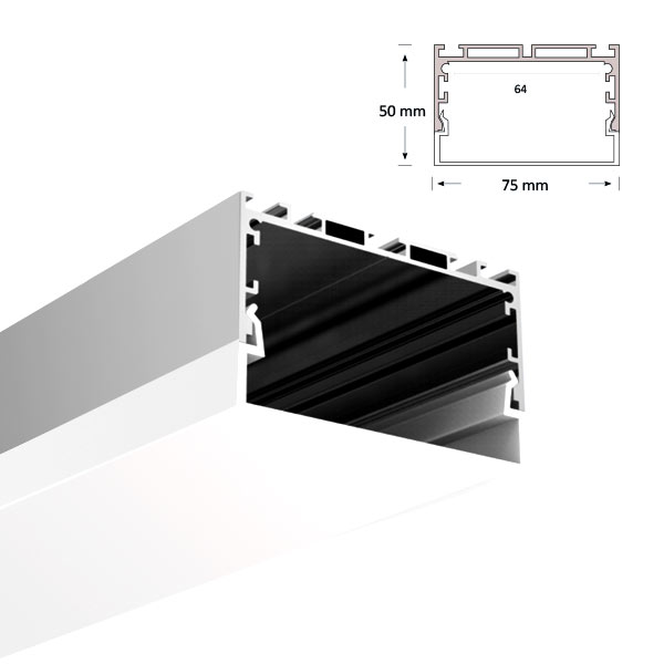 LED Extrusion with U-shaped Diffuser, 080