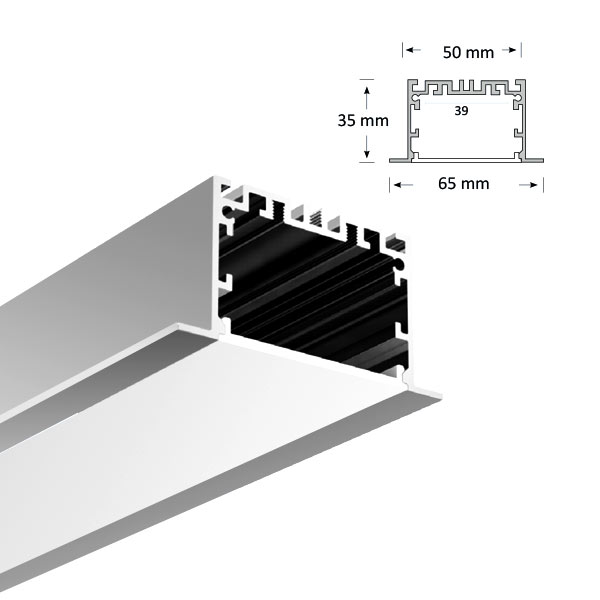 LED Recessed Extrusion, 081-R