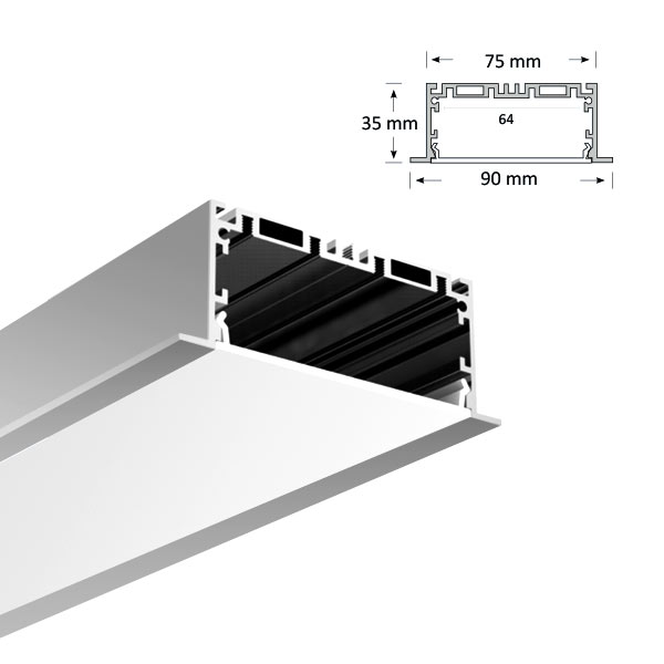 LED Recessed Extrusion, 085-R