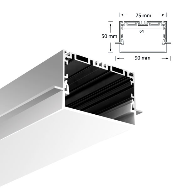 LED Extrusion with U-shaped Diffuser, 086-R