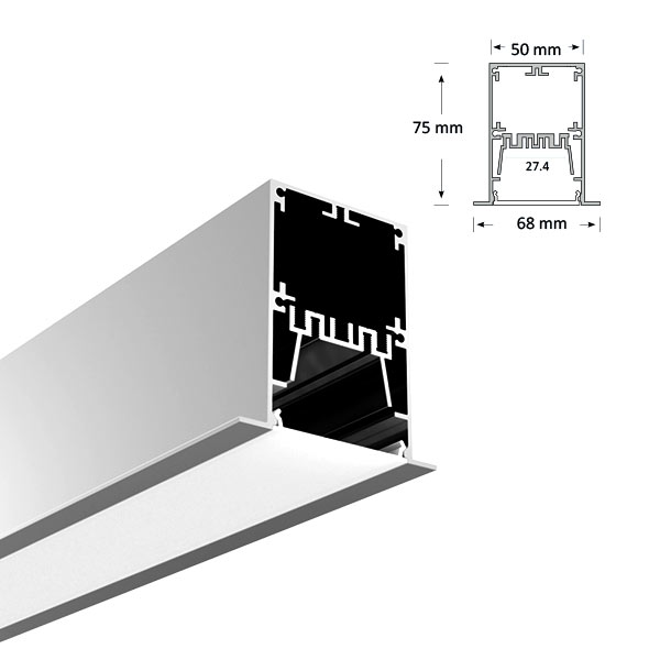 LED Recessed Extrusion, 096-R