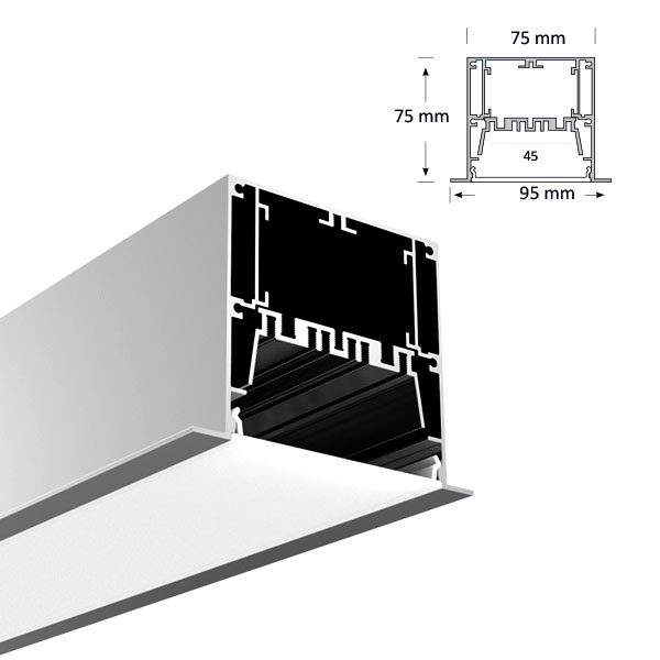 LED Recessed Extrusion, 098-R