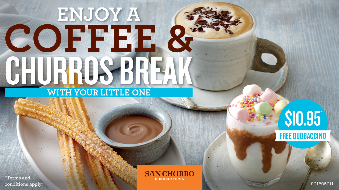 Coffee & Churros Break with Your Little One