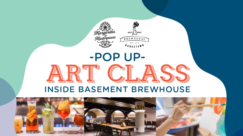 POP UP ART CLASS INSIDE BASEMENT BREWHOUSE