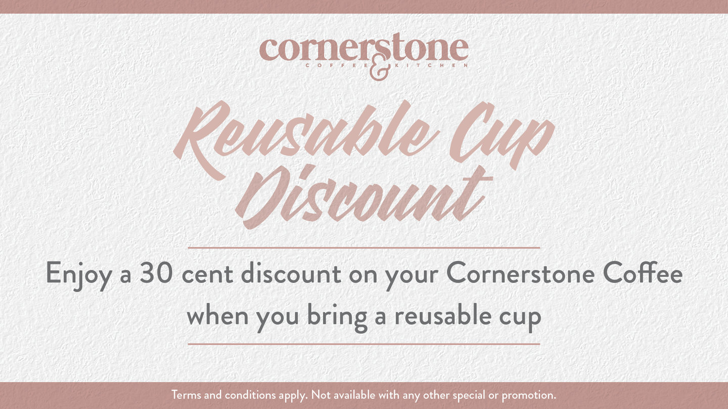 REUSABLE CUP DISCOUNT