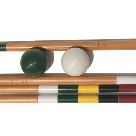 <p>For those with our premium 4 player croquet set that wish to upgrade to a six person set,  our upgrade pack does the trick.  Mallets, balls and stakes are included to incorporate a green and white player joining in.<br />Each upgrade pack includes: 2 x premium croquet mallets (1 white, 1 green), 2 x 84mm composite croquet balls (1 white, 1 green)<br />a pair of hardwood turning / finishing stakes with playing order stripes for designated white and green players.<br />For customers who have purchased our premium 4 player set, the bag has designated storage compartments that allows it to easily upgrade to a six player set.</p>