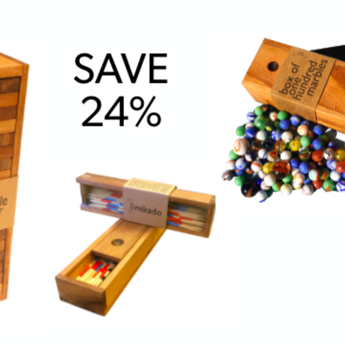 <p>Bundle and save with our Game of Skill bundle. Bundle includes Tumble Tower Standard, a box of 100 marbles and Mikado (pick up sticks).</p>