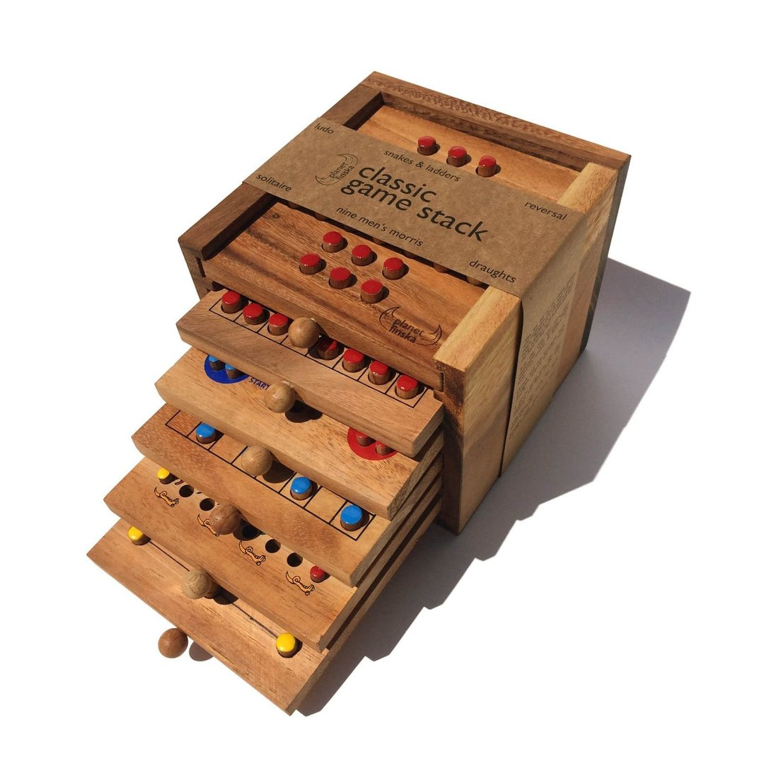 Not sure what to buy?  How about our fabulous hardwood game stacks as a great gift for the hard to buy for.  With no screens and no batteries, our 3 drawer and 6 drawer game stacks are a great way for family and friends to socialise, laugh and have fun.   Perfect as a coffee table or holiday house addition.