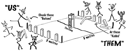 Kubb Graphic For Back