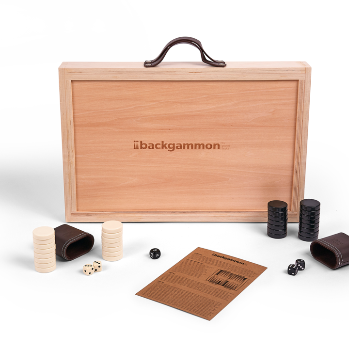 <p>Backgammon by Planet Finska is our designer version of this classic game of strategy. Our full size backgammon design is crafted from beautiful linden plywood, a timber often used in guitars.&nbsp; Each set when shut measures 49 x 32cm and comes with leather carry straps, two leather dice cups, 40mm ivory and black backgammon stones, 5-piece dice set and easy to follow backgammon rules.</p>