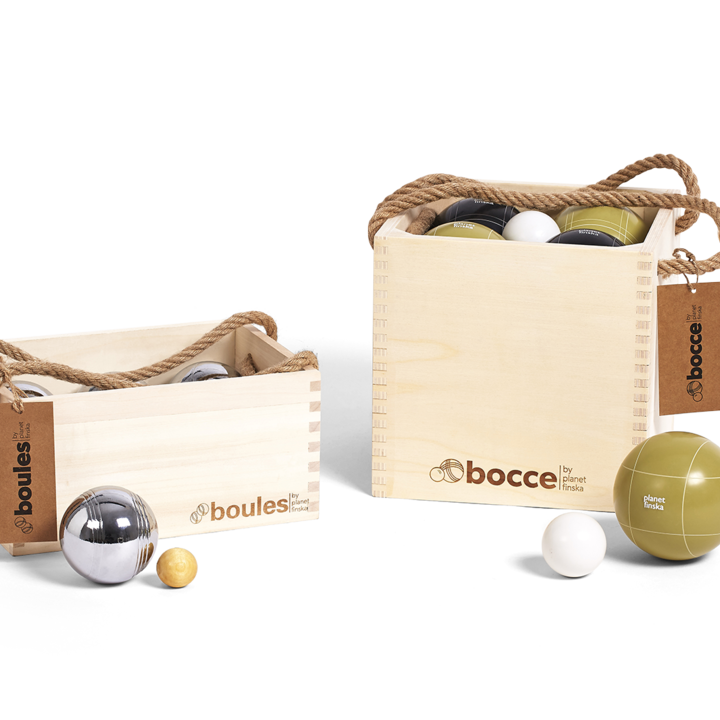 Most of us get confused about the right name for these European classics. Our versions of the French game boules (also known as petanque) as well as the Italian classic bocce will provide years of fun for young and old.