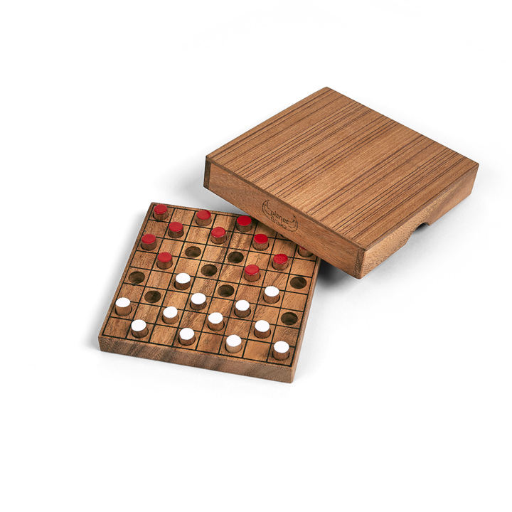 The earliest form of draughts or checkers as it is known in some parts of the world, was played by the Egyptians more than 3000 years ago. A fabulous holiday classic that requires strategy and intellect. A great stepping stone to chess for kids. 135mm x 135mm x 33mm