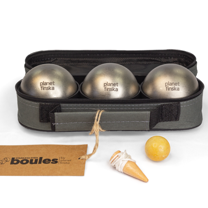 Combine two sets of stainless steel boules for a discount. Boules by Planet Finska also comes with easy to follow rules of the game.