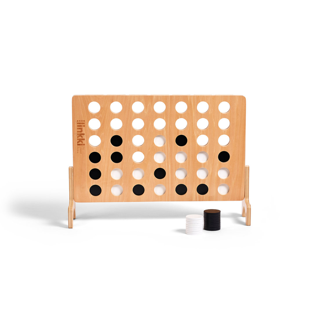 <p>Linkki is our designer take on giant connect four.&nbsp;&nbsp;Crafted from beautiful linden plywood, linkki has a clear varnish finish and will provide hours of fun for young and old both indoors and outdoors. 76cm x 55cm.</p><p>-FREE DELIVERY AUSTRALIA WIDE-</p>