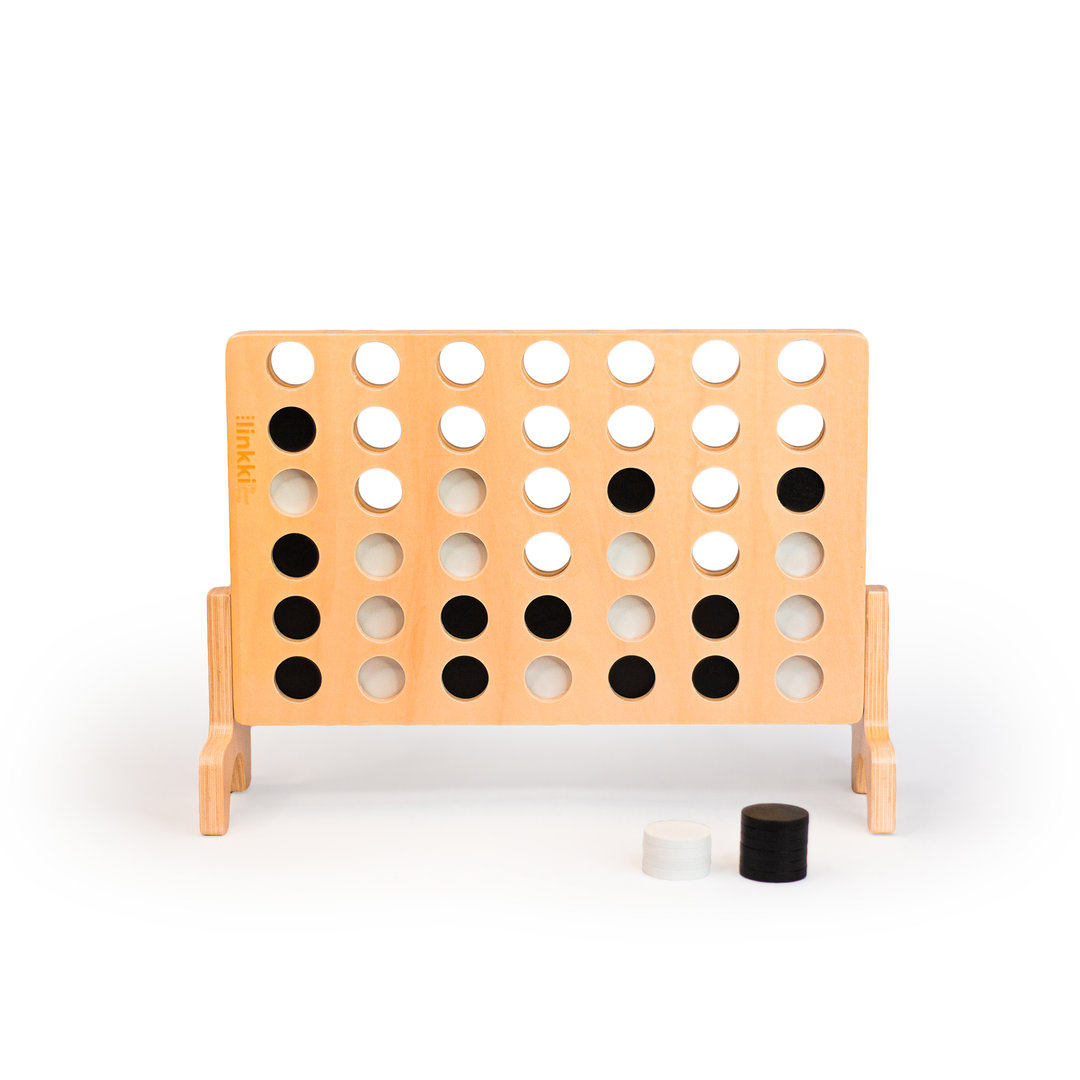 <p>Linkki Mini is our new smaller version of our designer connect four.&nbsp;&nbsp;Crafted from beautiful linden plywood, linkki mini is approx. 54% the size of linkki and has a clear varnish finish. Just like its giant cousin, linkki mini&nbsp; will provide hours of fun for young and old both indoors and outdoors.</p><p>-FREE DELIVERY AUSTRALIA WIDE-</p>