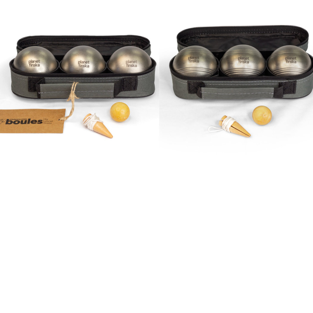 <p>Combine two sets of stainless steel boules for a discount. Boules by Planet Finska also comes with easy to follow rules of the game.</p>