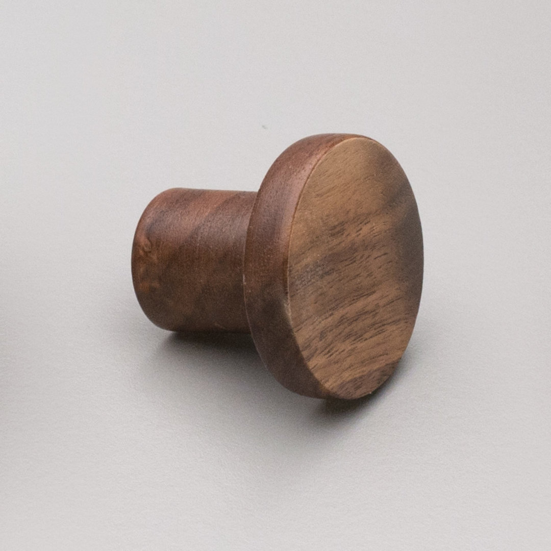 Kitchen Timber Trige Knob Walnut 48mm L4317