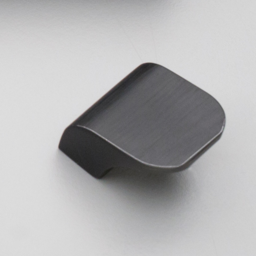 Kitchen Clare Aluminium Pull Matt Black Brushed Finish L839 16mm C to C