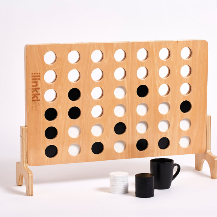 Linkki is Planet Finska's designer take on giant connect four.Crafted from beautiful linden plywood, linkki has a clear varnish finish and will provide hours of fun for young and old both indoors and outdoors. 76cm x 55cm.LINKKI SPECIAL: NORMALLY $149.95. SAVE $20.00 UNTIL DECEMBER 24 WHILE STOCKS LAST -FREE DELIVERY AUSTRALIA WIDE-