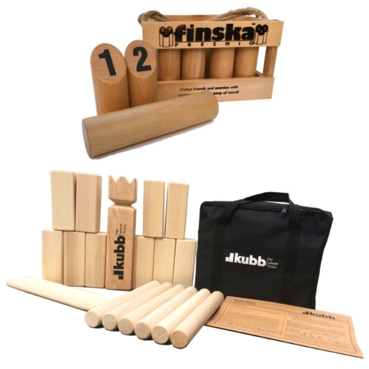 <p>Save $20.00 when you bundle Finska Preemio and Original Kubb.</p><p>&nbsp;</p><p>FREE DELIVERY AUSTRALIA WIDE</p>