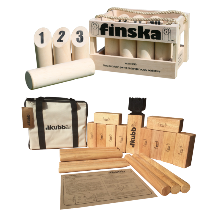 Save $20.00 when you bundle Kubb Premium with Original Finska.  FREE Standard Shipping Australia Wide.