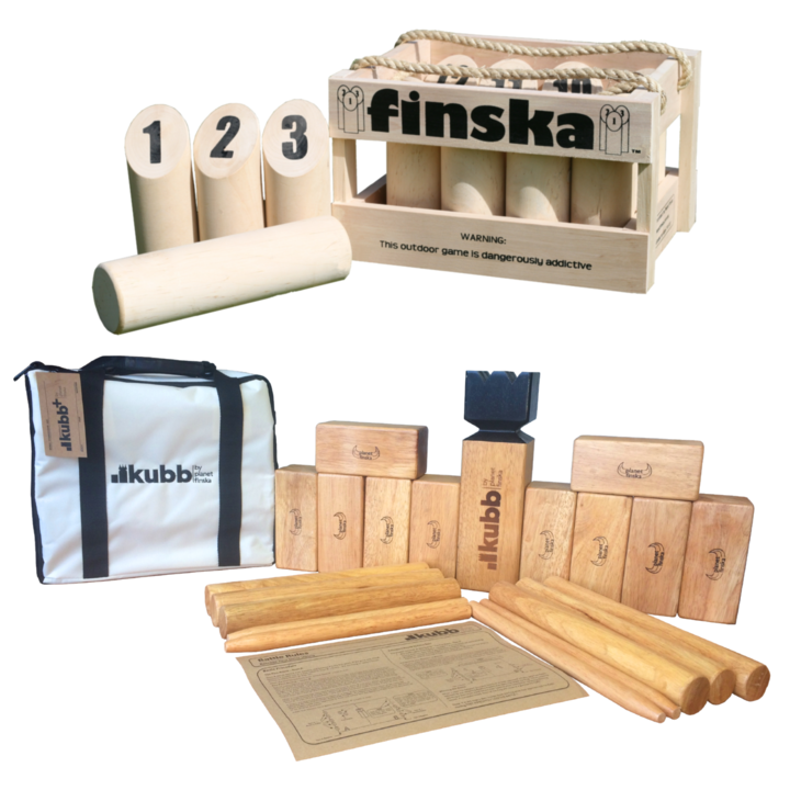 Save $25.00 when you bundle original Finska with Kubb Premium plus.� FREE DELIVERY AUSTRALIA WIDE