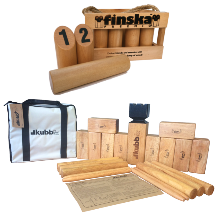 Save $30.00 when you bundle Finska Preemio and Kubb Premium Plus. FREE Standard Shipping Australia Wide.