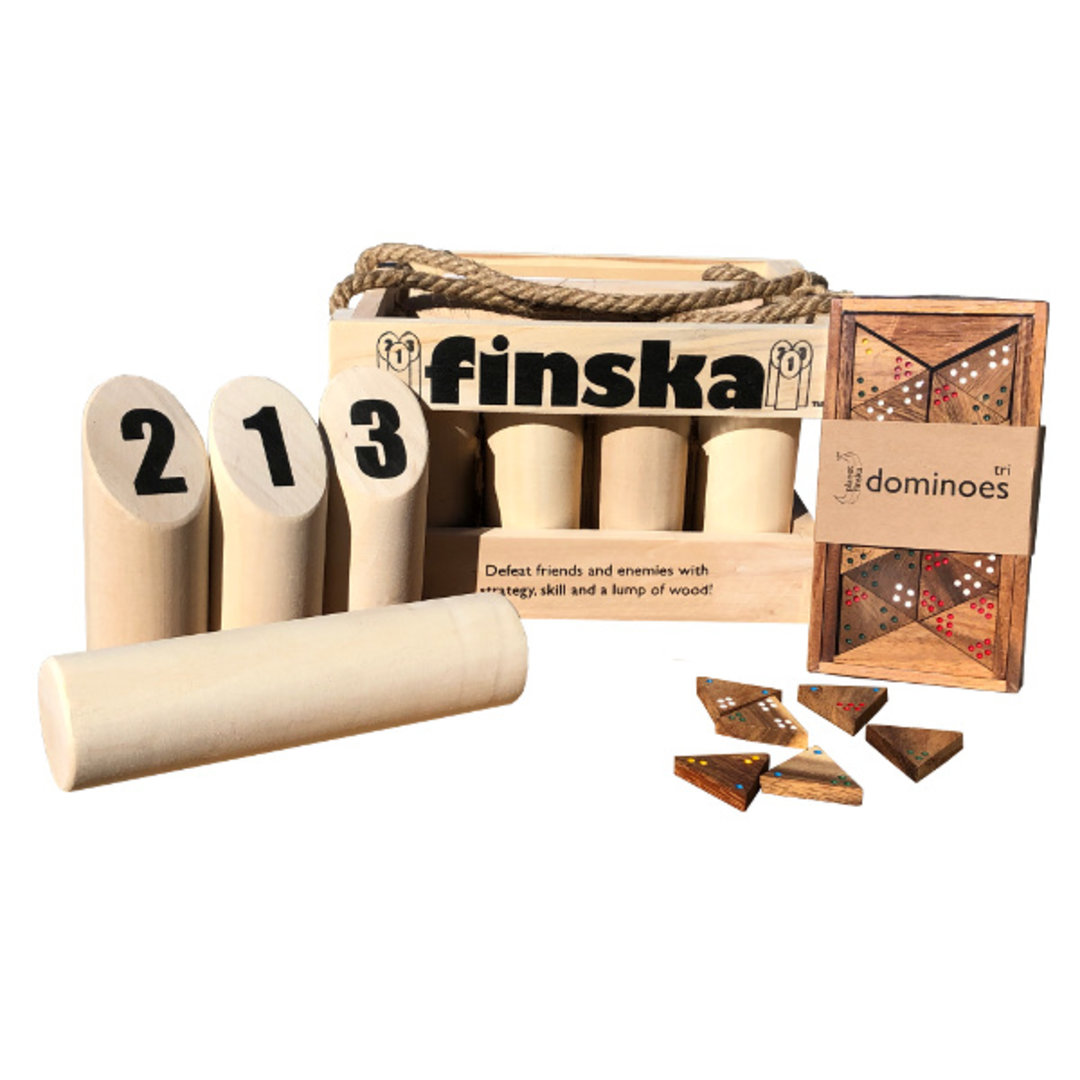 <p>LIMITED TIME ONLY SPECIAL<br />ON SALE NOW - SAVE $30<br />Our original Finska crafted from natural unfinished birch combined with tri dominoes!<br />FREE DELIVERY AUSTRALIA WIDE</p>