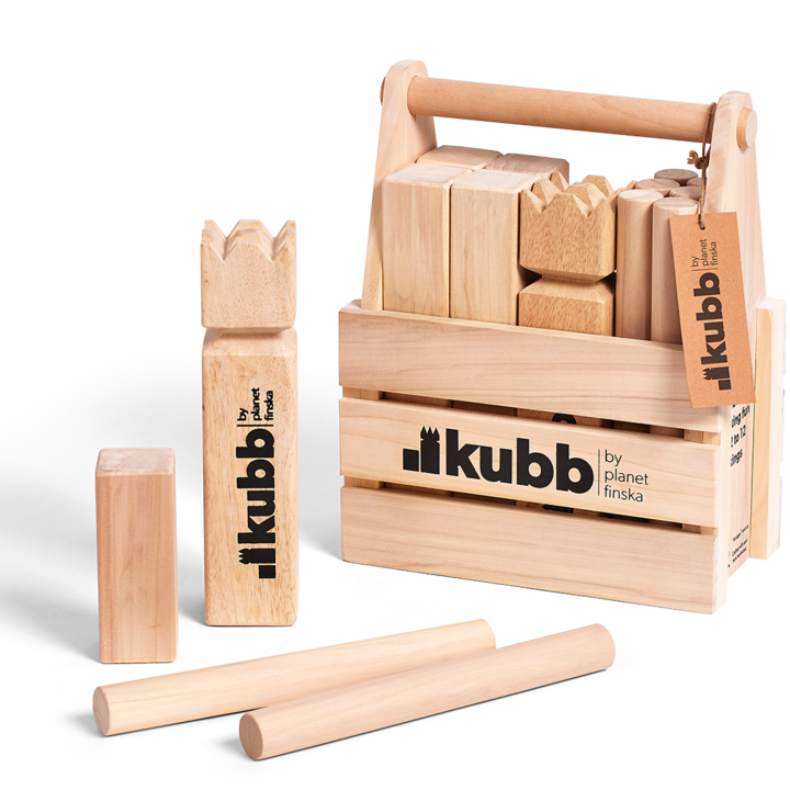 <p>Kubb in Crate is our original Kubb set that comes in a solid well crafted hardwood carry crate.&nbsp;&nbsp;</p><p>&nbsp;</p><p>FREE DELIVERY AUSTRALIA WIDE</p>