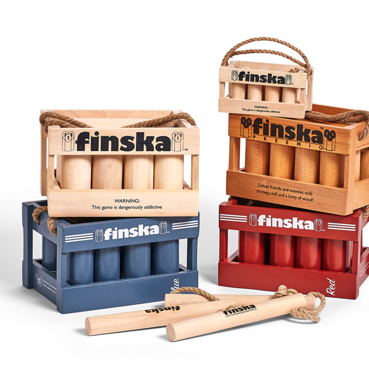 The game that launched Planet Finska.  This classic Finnish log throwing game continues to surge in popularity across Australia.  Loved by young and old, Finska is an addictive and cunning race to exactly 50 points.  Defeat friends and enemies with strategy, skill and a lump of wood!�