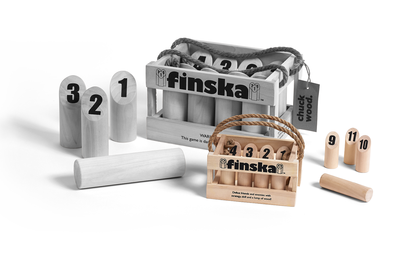 Finska Mini is Planet Finska's mini indoor version of this classic log chucking game.