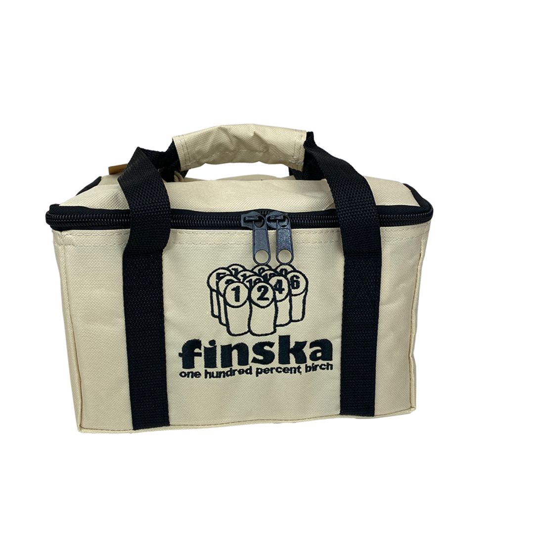 <p>Carry Crate too bulky? Purchase this handy zip up Original Finska Carry bag as a cool alternative to the classic crate look. Keeps your set more compact and provides better protection of finska pins from the elements.</p><p>FREE DELIVERY AUSTRALIA WIDE</p><p>&nbsp;</p>