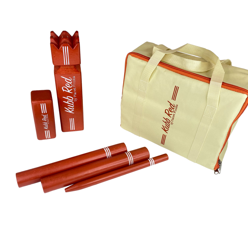 Our Kubb Retro Red is crafted from premium birch with a retro red finish and comes in a durable carry bag.� FREE DELIVERY AUSTRALIA WIDE