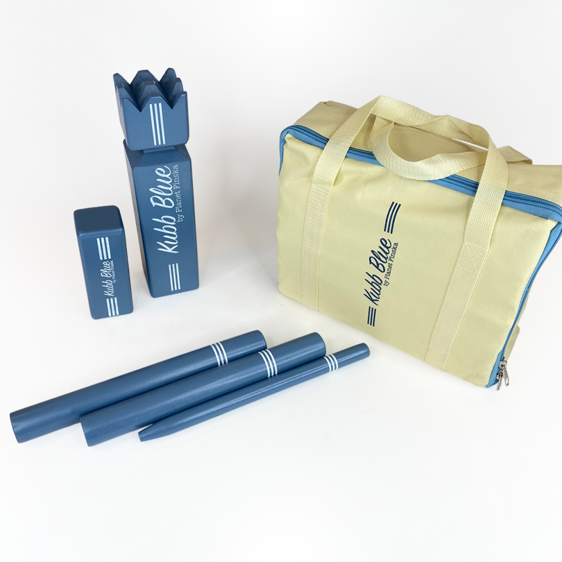Our Kubb Retro Blue is crafted from premium birch with a painted finish and comes in a durable carry bag.� FREE DELIVERY AUSTRALIA WIDE