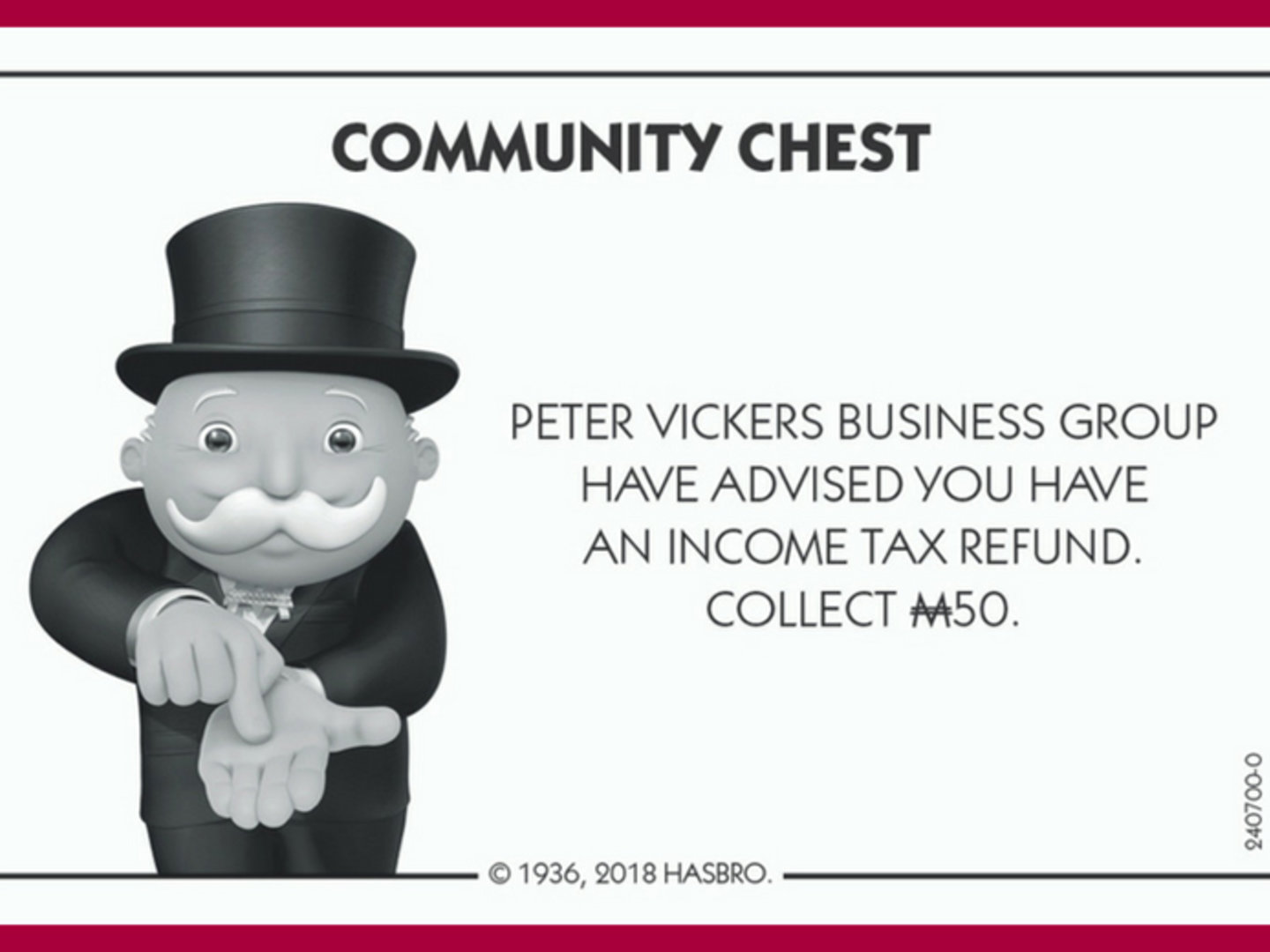 Peter Vickers Business Group Proudly Sponsoring the Ku-ring-gai Edition of Monopoly