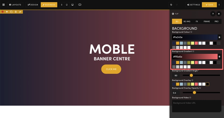 MOBLE CMS Background Gradient