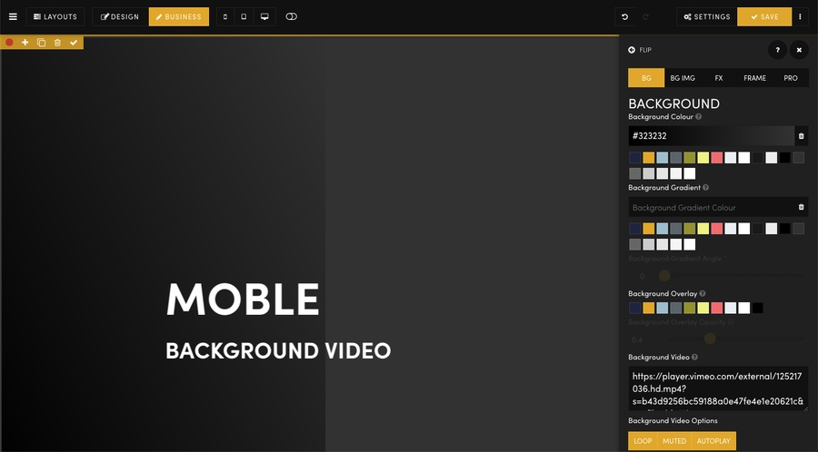 How to add a \'Background Video\' to your website pages. - MOBLE PTY LTD