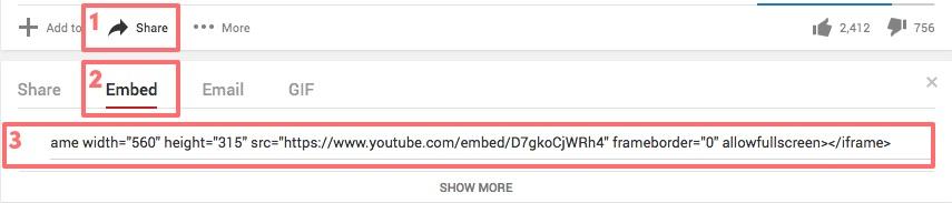 Adding You Tube Code