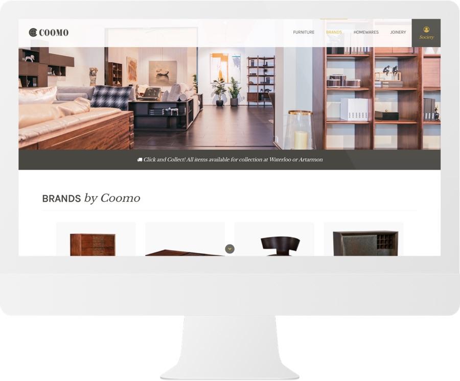 Coomo Ecommerce Design iMac