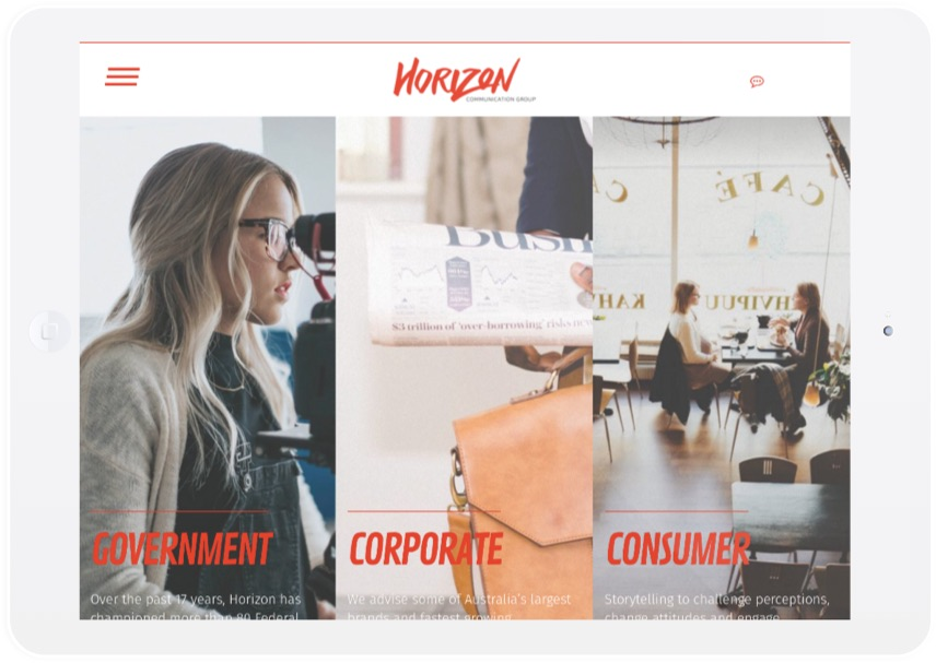 Horizon Partner Agency Design iPad