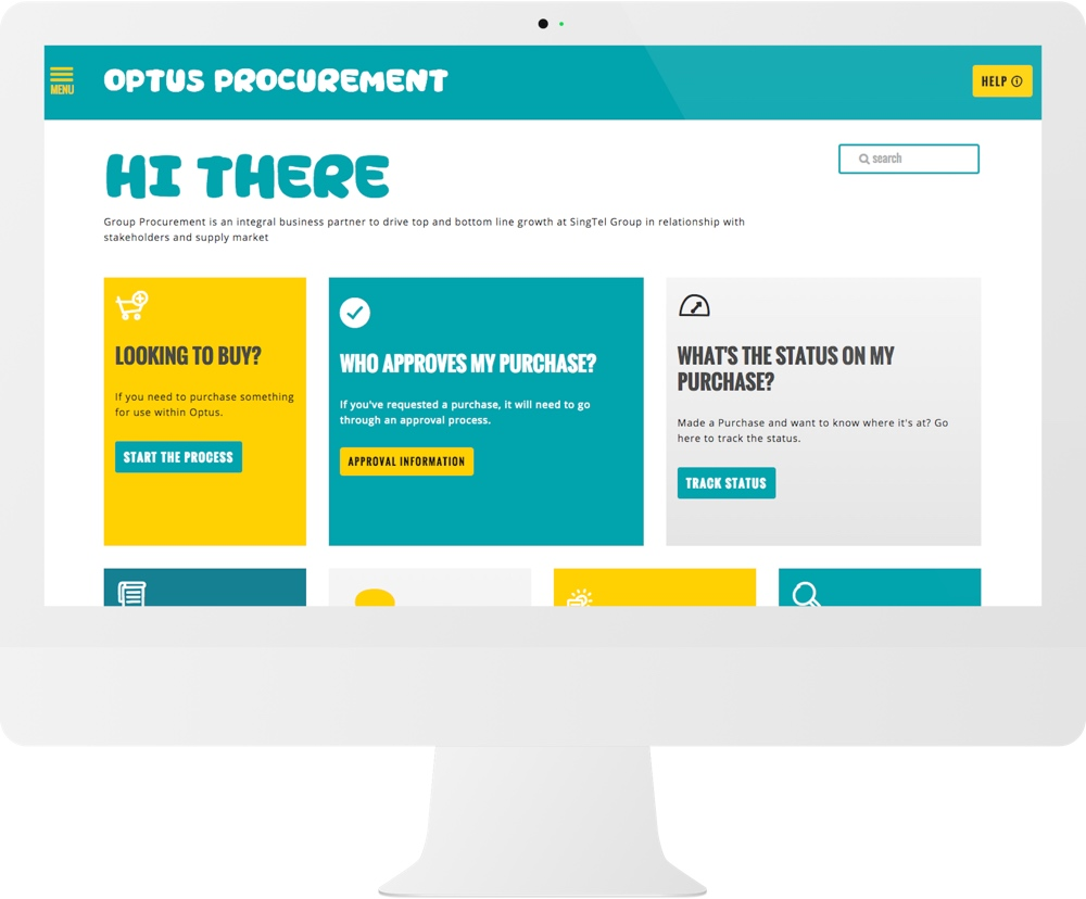 Optus Website iMac