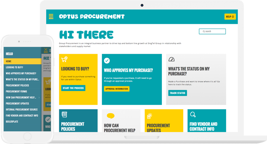 Optus Website Design